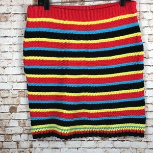 ASOS multi colored striped sweater skirt